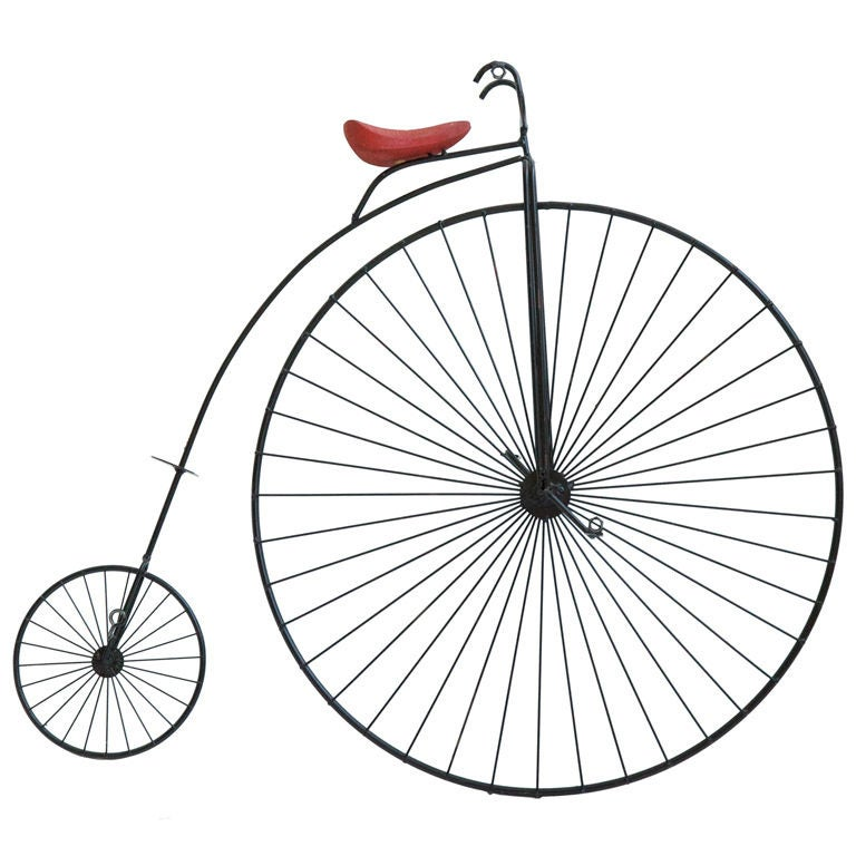 Curtis Jere Penny Farthing Wall Sculpture At 1stdibs