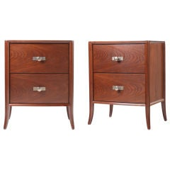 Pair T. H. Robsjohn Gibbings/Widdicomb 2 drawer Nightstands