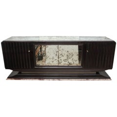 French Art Deco Ebonized Mahogany Sideboard