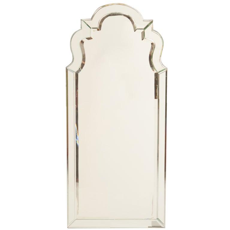Art Deco Venetian Style Keyhole Mirror At 1stdibs