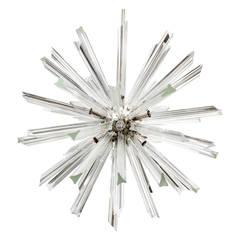Crystal Sputnik Chandelier by Venini for Camer