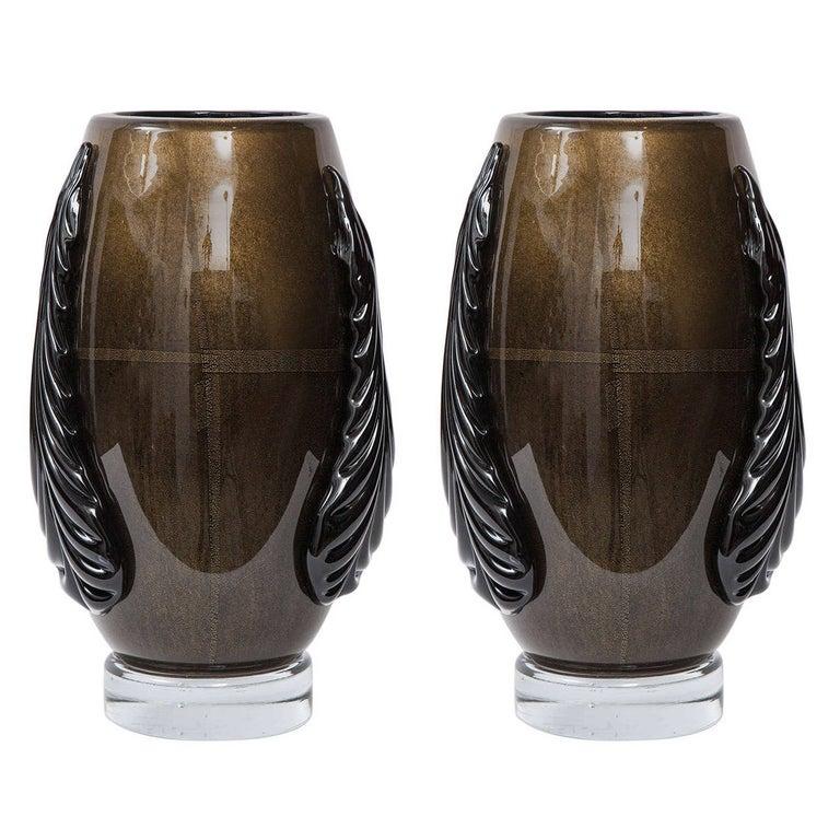 Murano Glass Vases by Pino Signoretto For Sale