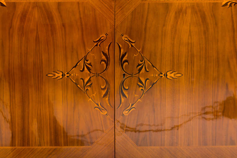20th Century Hungarian Art Deco Sideboard with Exotic Wood Inlay For Sale