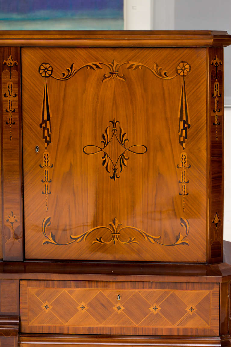 Hungarian Art Deco Sideboard with Exotic Wood Inlay 3