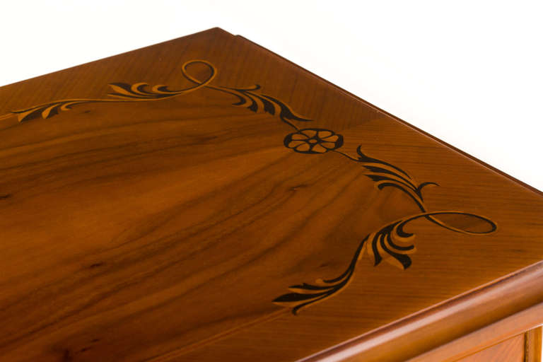 Hungarian Art Deco Sideboard with Exotic Wood Inlay For Sale 1