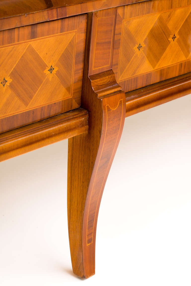 Hungarian Art Deco Sideboard with Exotic Wood Inlay 7