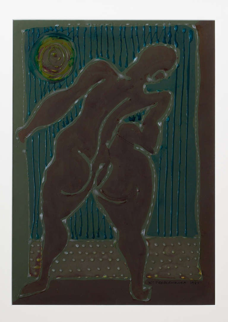 Modernist Nude by William Fredericksen, 1984 In Excellent Condition For Sale In New York, NY