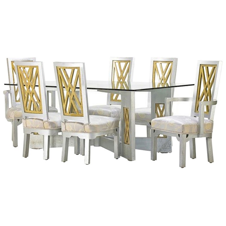 James Mont Dining Set, 7 pcs For Sale