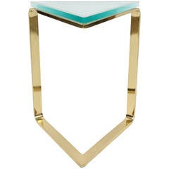 Brass Triangle Table by Pace