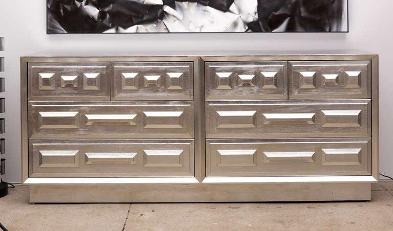 Modernist Silver Leaf Dresser By John Keal For Brown Saltman 2