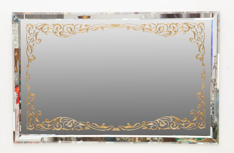 Art Deco Églomisé Border Mirror 2