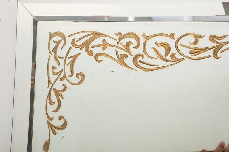 Art Deco Églomisé Border Mirror 3