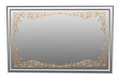 French Maison Jansen Style Églomisé Border Mirror