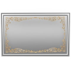 Art Deco Églomisé Border Mirror