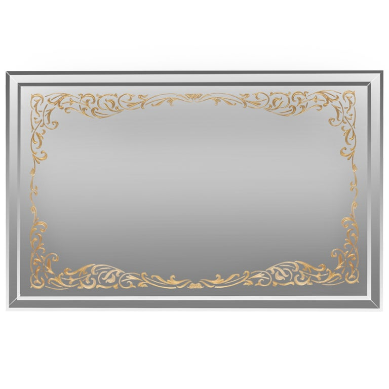 Art Deco Églomisé Border Mirror 1