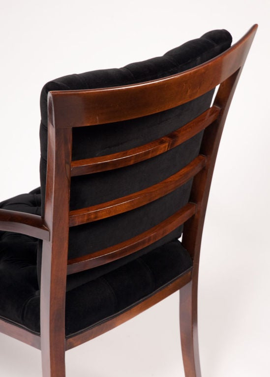 Pair of Art Deco Walnut Arm Chairs In Excellent Condition For Sale In New York, NY