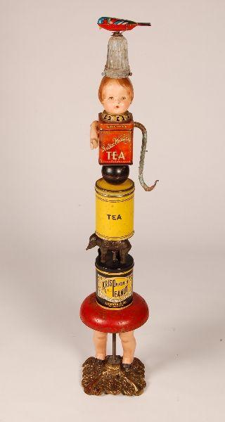 Folk Art Found Object Doll TOTEM by Bill Fink, Bergdorf Goodman For Sale 2