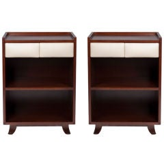 Pair of Gilbert Rohde Mahogany Nightstands