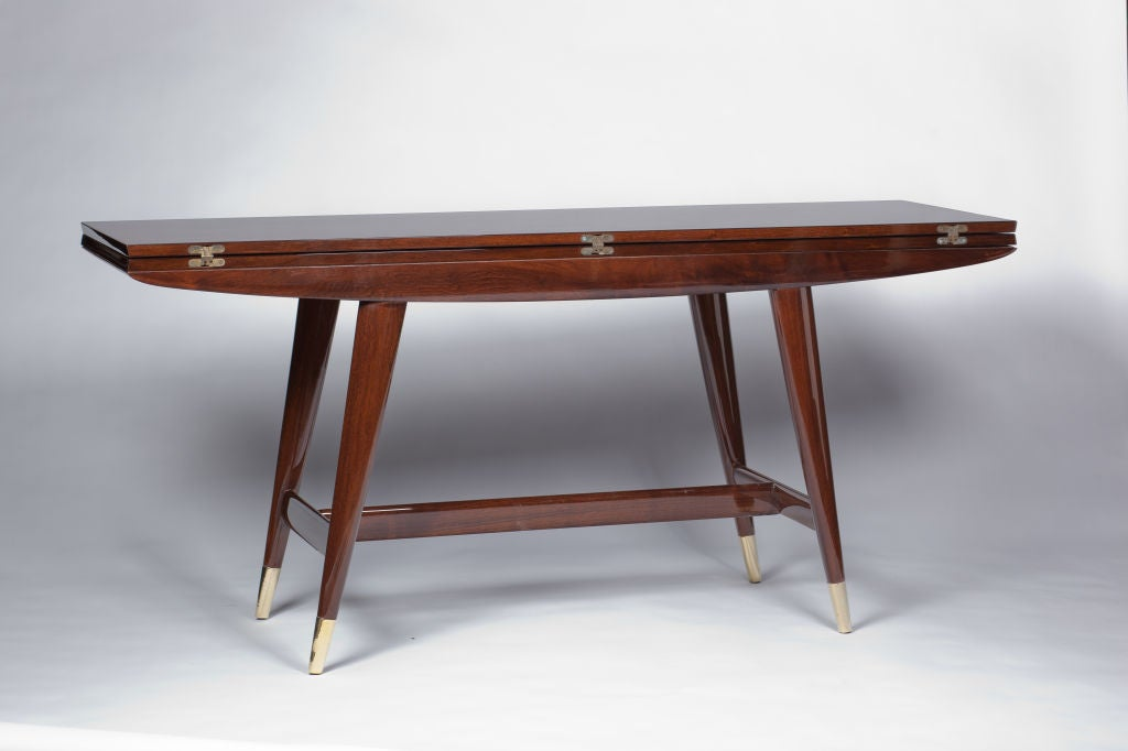 Gio ponti convertible console dining table at 1stdibs for Table transformable