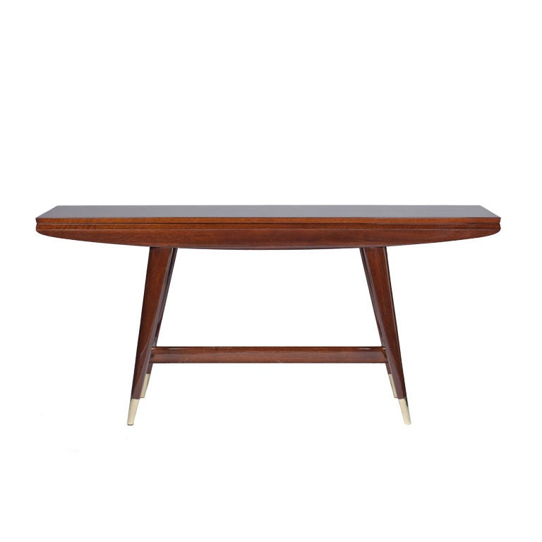 Gio ponti convertible console dining table at 1stdibs - Console convertible table ...