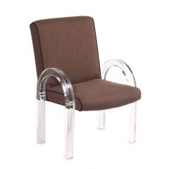 Set of Six Lucite Dining Chairs by Charles Hollis Jones