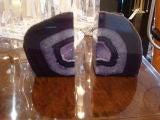 Violet Geode Bookends