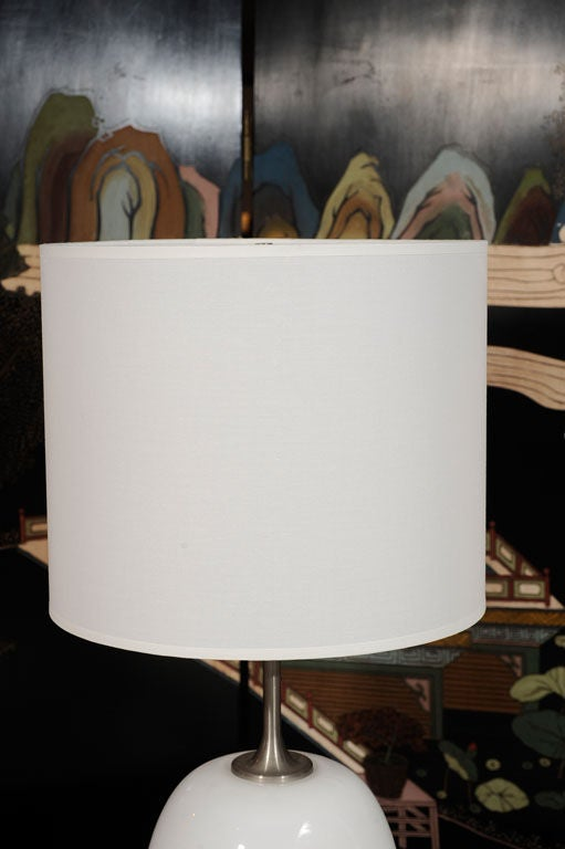 Pair of Michael Bang for Holmegaard Ovoid Lamps at 1stdibs