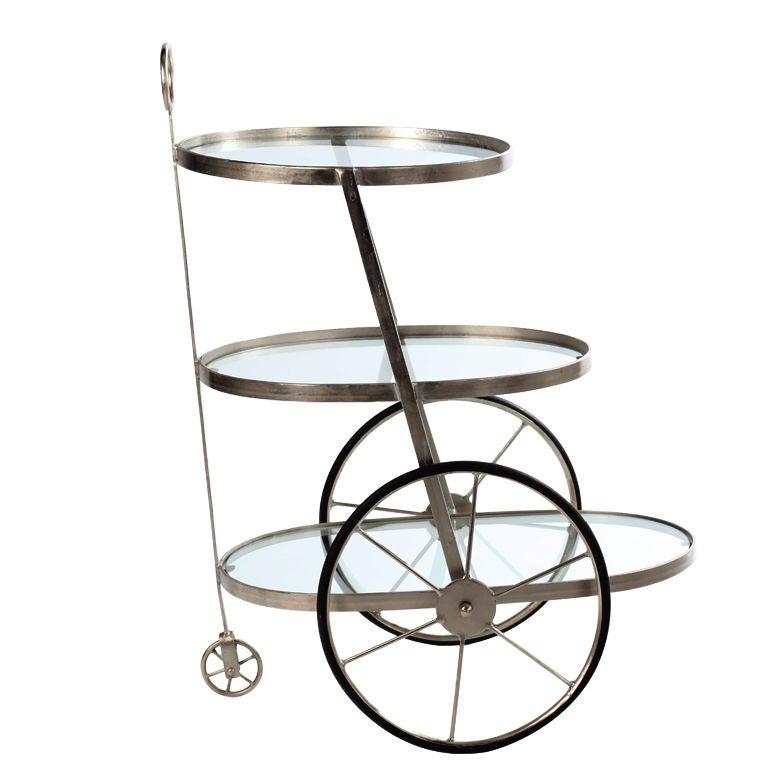 Art Deco 3 Tier Bar Cart At 1stdibs