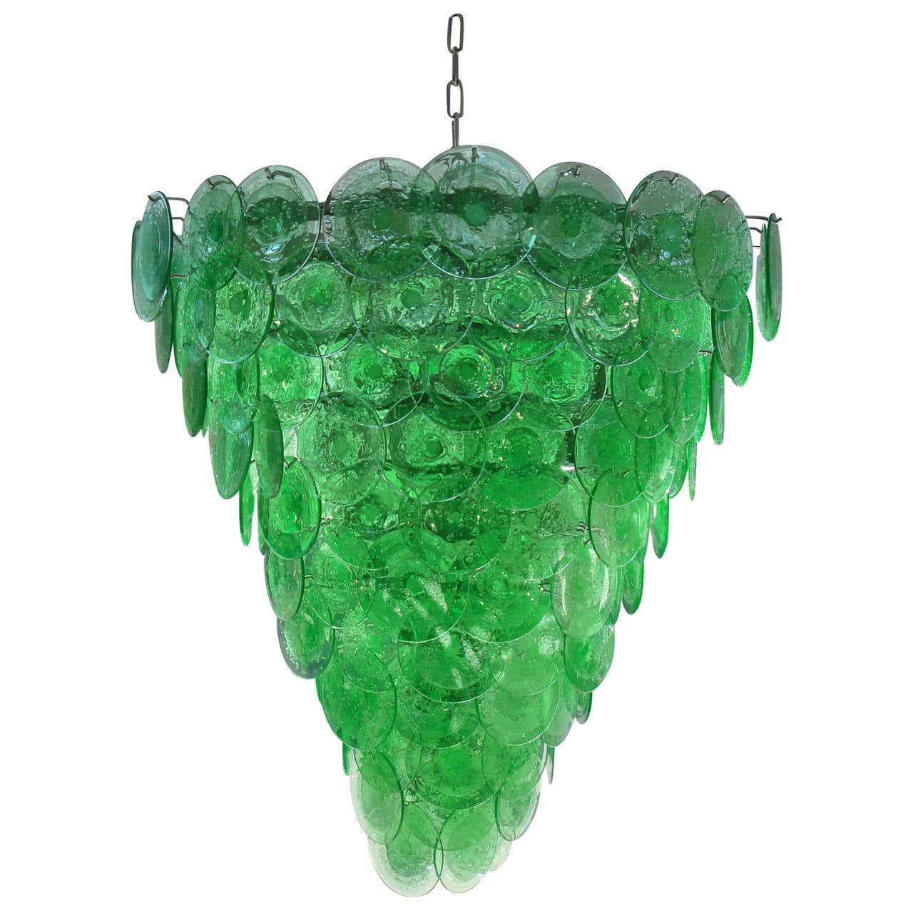 Large Green Glass Chandelier For Sale At 1stdibs