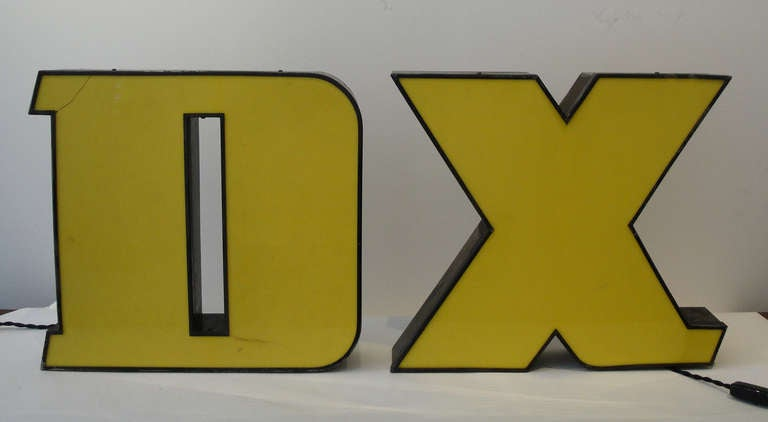 Cast metal neon letters for sale at 1stdibs for Large neon letters