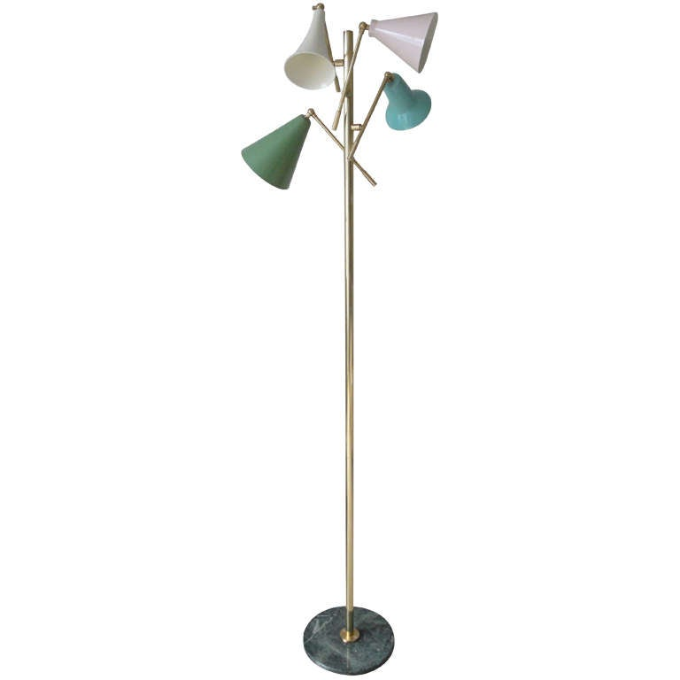 four arm italian floor lamp at 1stdibs. Black Bedroom Furniture Sets. Home Design Ideas