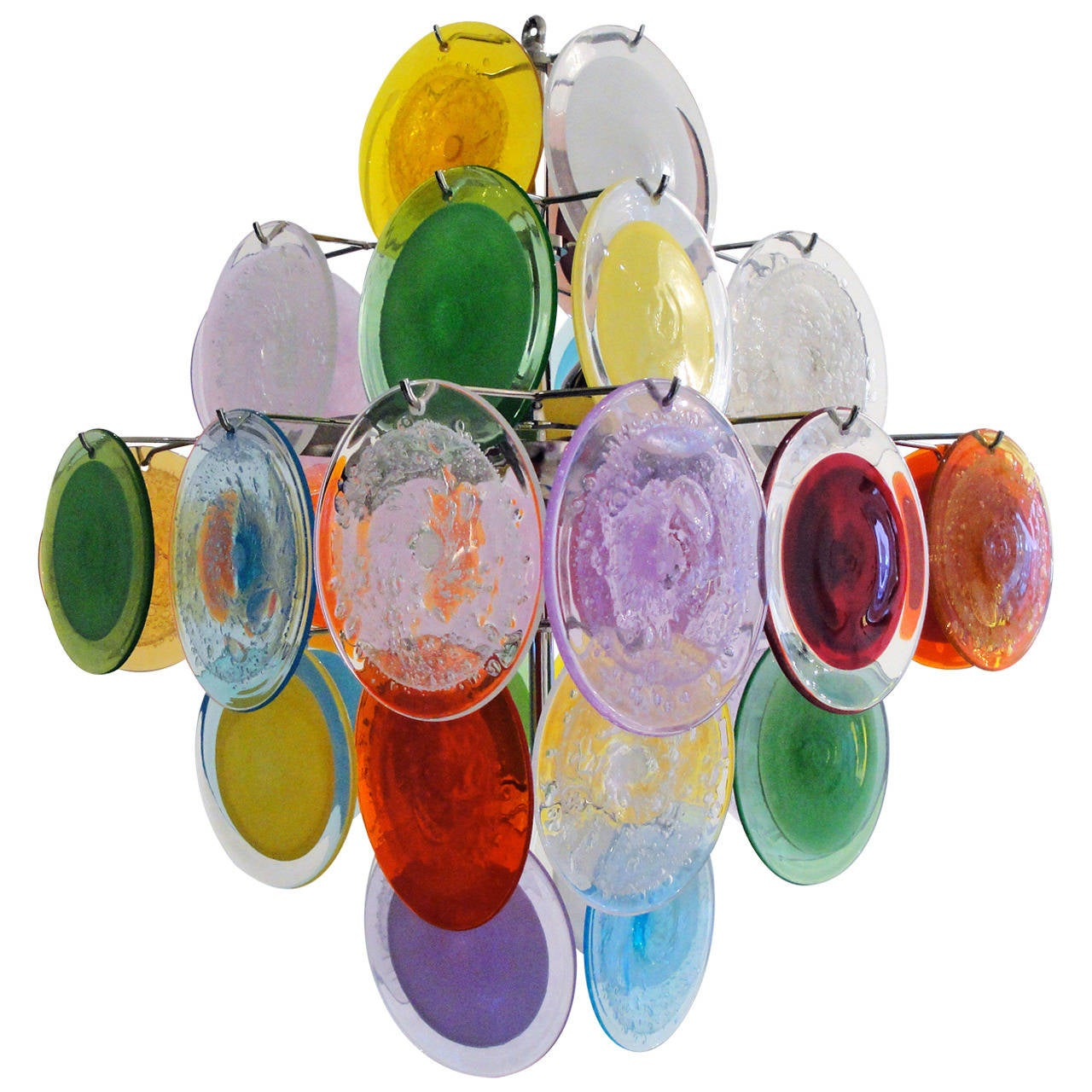 Murano Chandelier Color: Multi-Color Murano Glass Chandelier At 1stdibs