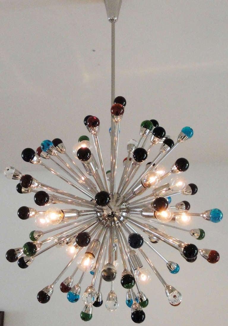 Mid-Century Modern Murano Glass Sputnik Chandelier For Sale
