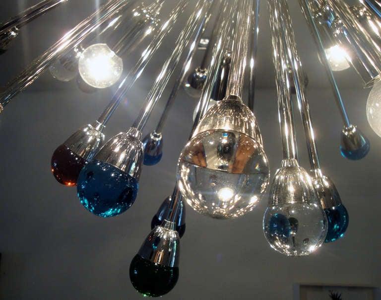 20th Century Murano Glass Sputnik Chandelier For Sale