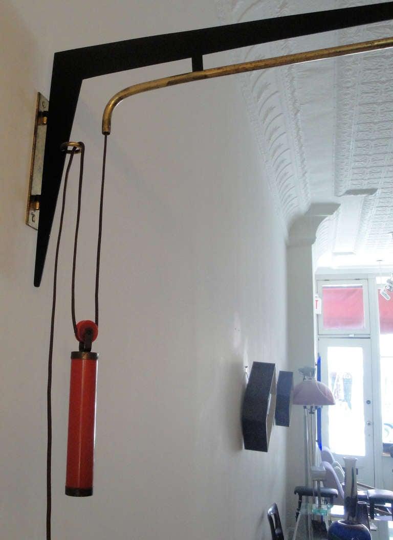 stilnovo wall mounted lamp at 1stdibs. Black Bedroom Furniture Sets. Home Design Ideas
