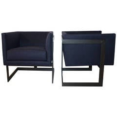 "Pair of Milo Baughman ""Cube"" Chairs"