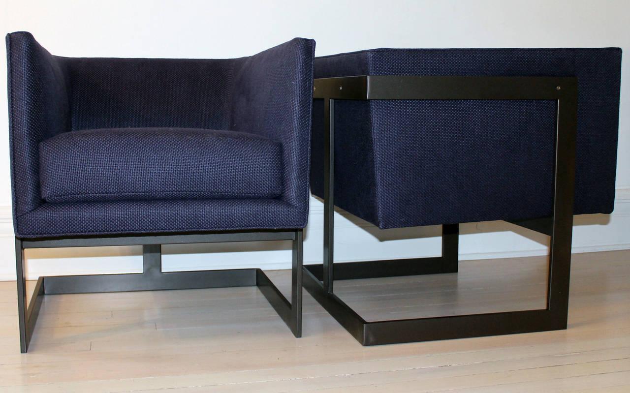 "Pair of Milo Baughman ""Cube"" Chairs 3"