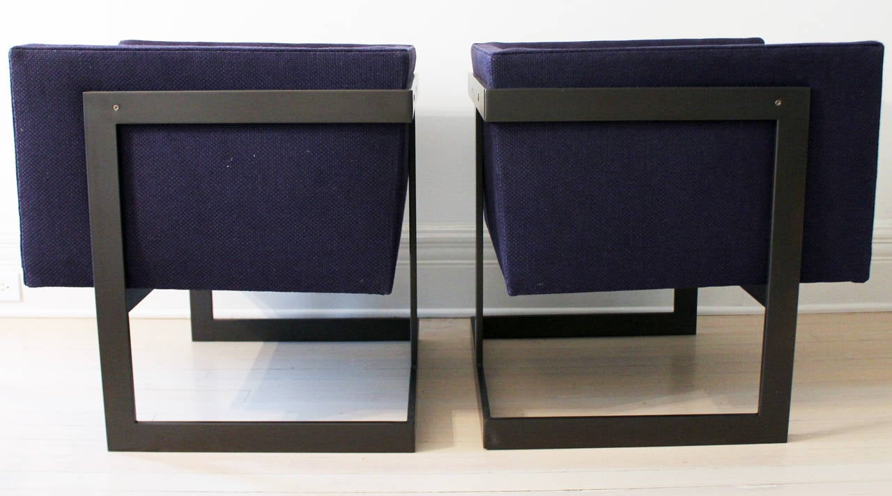 "Pair of Milo Baughman ""Cube"" Chairs 2"