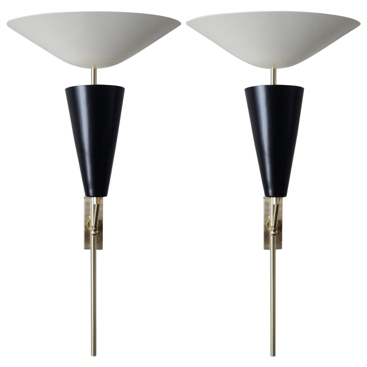 Double Shade Wall Sconces : Pair of Double Shade Sconces For Sale at 1stdibs