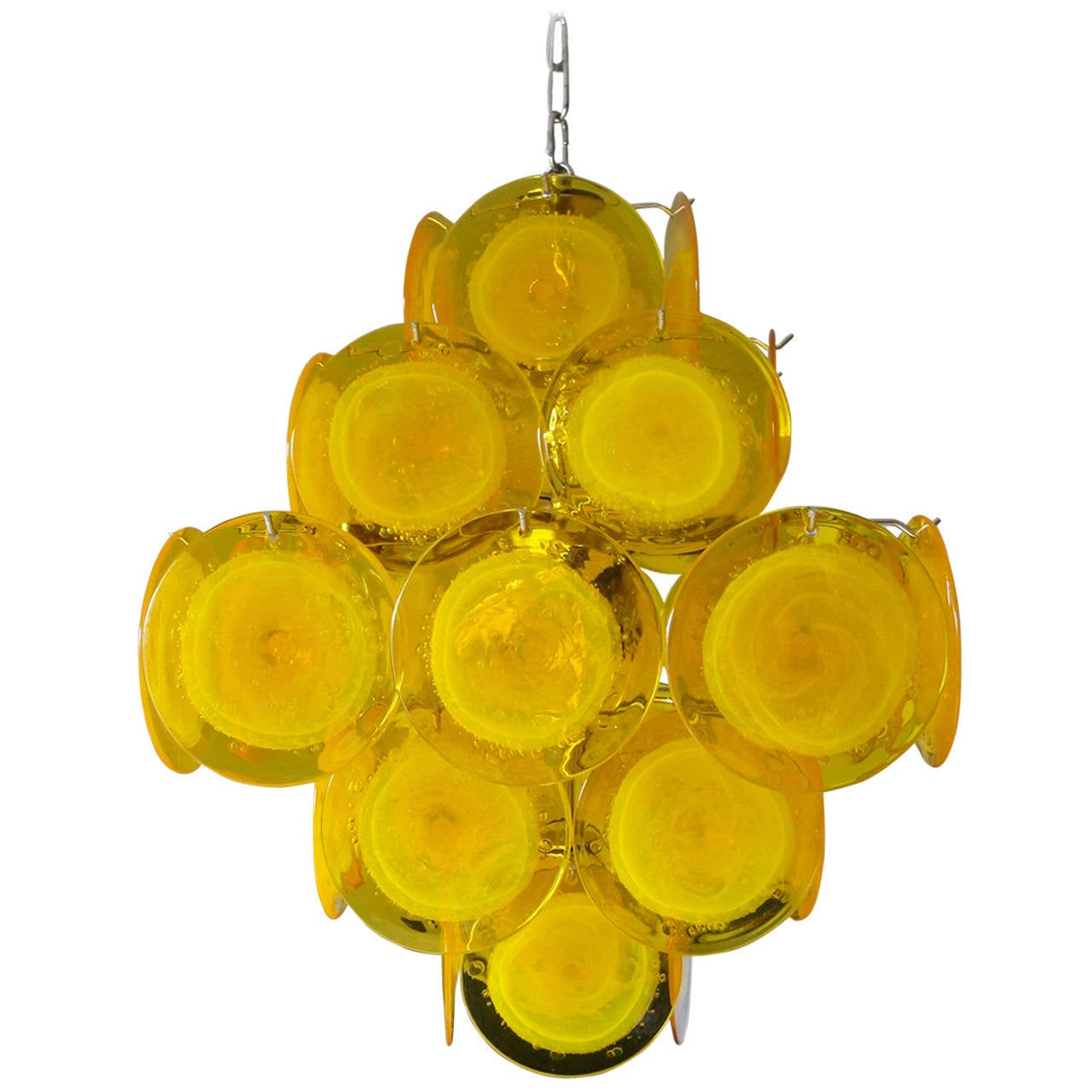 Yellow Murano Glass Chandelier 1