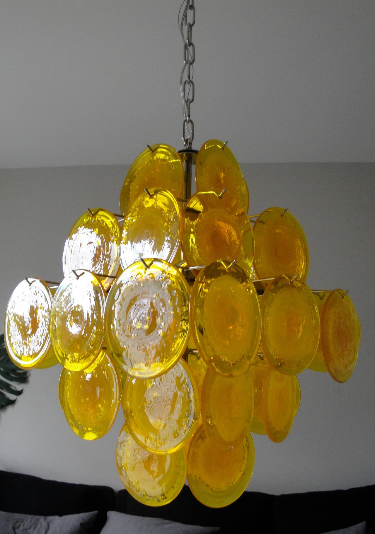 Yellow Murano Glass Chandelier 3