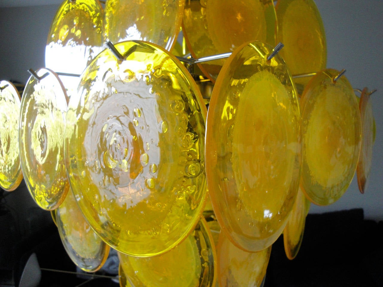 Yellow Murano Glass Chandelier 4