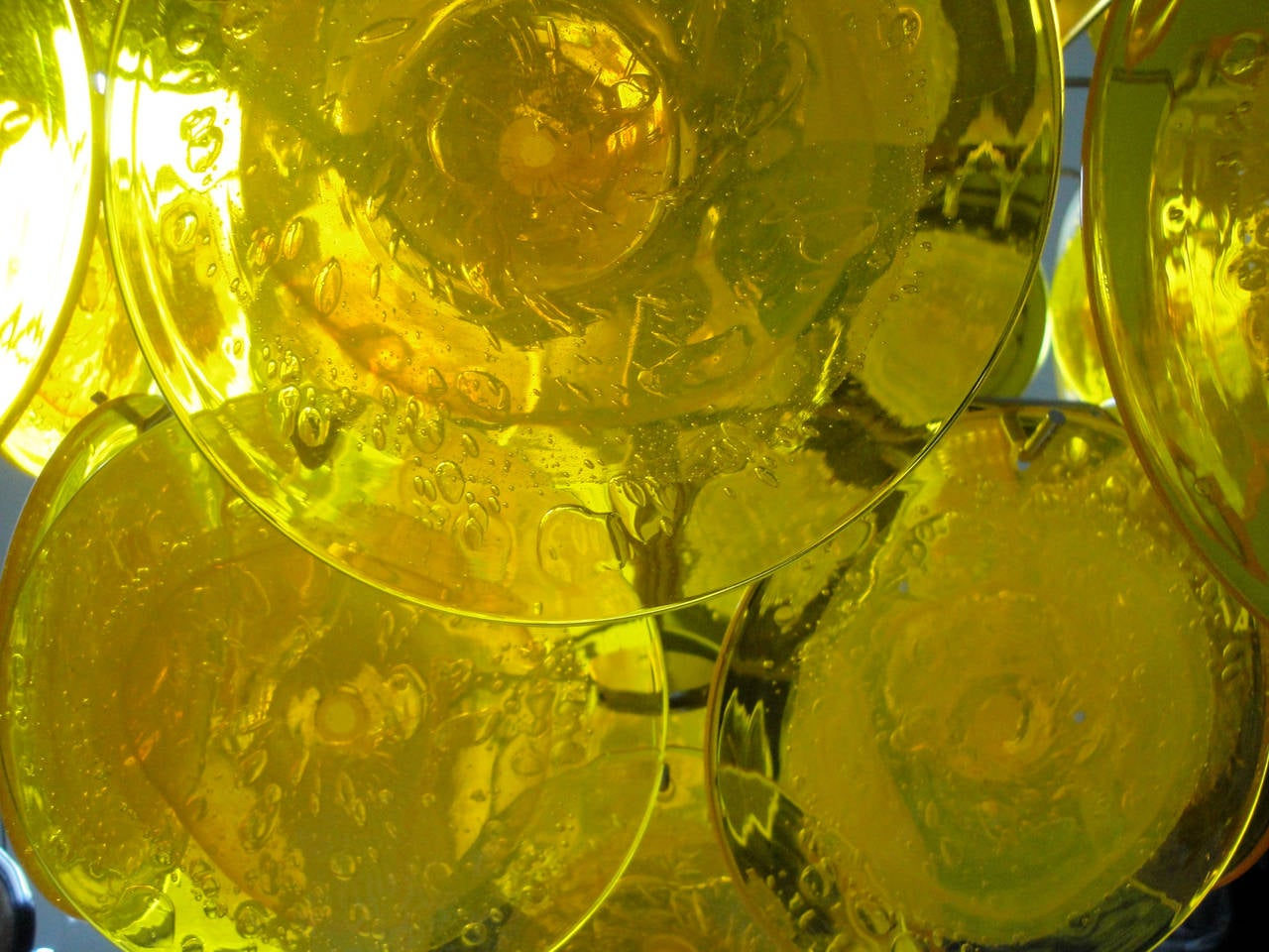 Yellow Murano Glass Chandelier 5