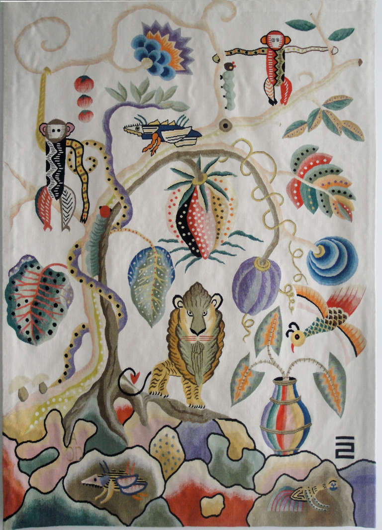 Jambala Wool Tapestry by Kazumi Yoshida 2