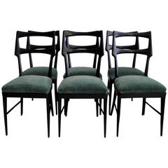 Set of Six Vittorio Dassi Dining Chairs