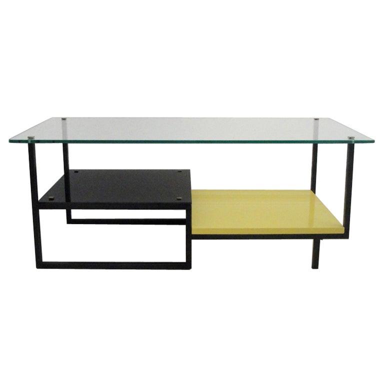 Yellow Marble Coffee Table: Alain Richard Coffee Table At 1stdibs