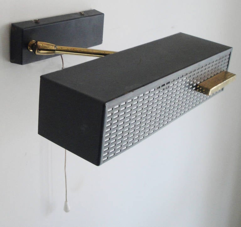 Pair of French Perforated Metal Sconces at 1stdibs