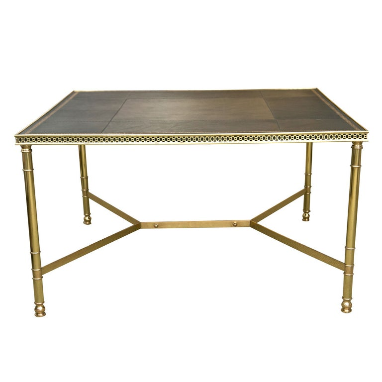 Jansen Leather Coffee Table For Sale