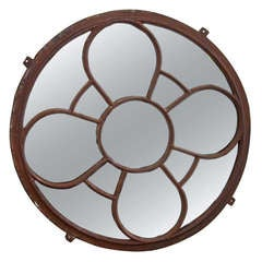 Round Metal Frame Mirror
