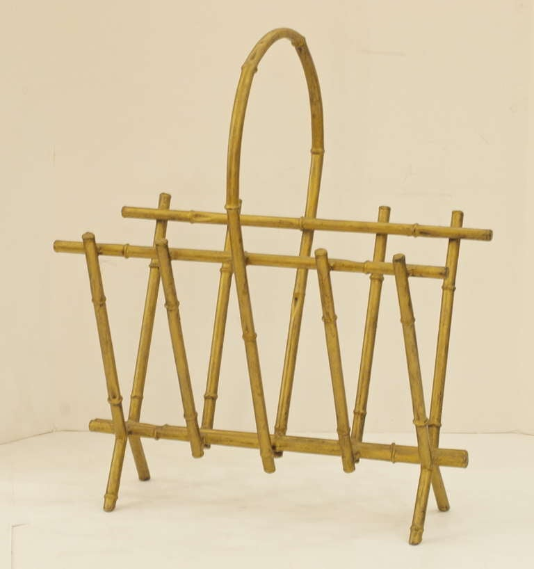 Elegant Magazine Holder Gilt Finish Faux Bamboo Metal Magazine Holder at 41stdibs 36